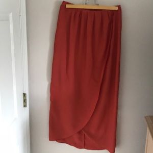 Bar III Orange Maxi Skirt